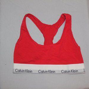 Calvin Klein Racerback bra color RED